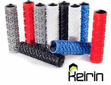New White Rubber MTB Grips Keirin For 22.2mm Handle Bars Free P&P