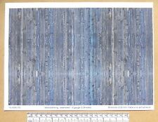 "G gauge (1:24 scale) ""Wood planking - weathered "" self adhesive vinyl - A4"