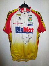 Maillot porté dédicacé BIG MAT Giordana BOURGUIGNON worn jersey L