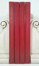 1977~ARCHITECTURAL TREASURES OF EARLY AMERICA~Red Vintage 4 Book Lot~Old Set