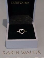Karen Walker Superfine Sterling Silver Heart Ring