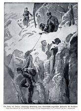 1915 Italienkrieg * Schwierige Erkundung einer k.u.k. Patrouille * antique print