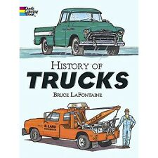 Coloring Book Truck Pickup History Stress Relief Gifts for Teenage Guys 48 Pages