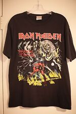 Vintage VTG Iron Maiden Tour Band Concert Black T-Shirt 666 Authentic Soft