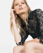 Zara Shirt Lace Dress size M