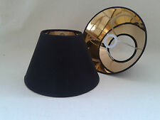 8'' Coolie Black Lampshade Gold Lining Light Shade Table Lamp Handmade