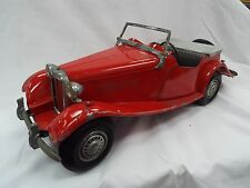Vintage Doepke Model MG TD Red DieCast Scale Sports Car Roadster Kit Vintage