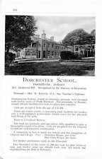1955 Dorchester School Park Stone Mrs Dansie School Ad