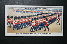 Trooping The Colour Ceremony    Original 1930's Vintage Card  VGC