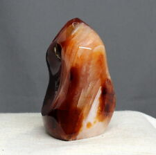 "3.46"" Gorgeous Veins Carnelian Agate Flame Statue Reiki Crystal Standup, Сrn449"