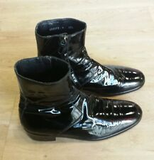 Balenciaga Chelsea Ankle Patent Leather Mens Boots Shoes Size 421/2  Us 8.5