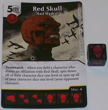 "RED SKULL ""HAIL HYDRA"" 125/142 Age Of Ultron Dice Masters Rare"