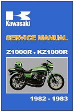 KAWASAKI Workshop Manual KZ1000R Z1000R 1000R Eddie Lawson Replica 1982 and 1983