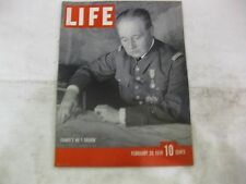 Life Magazine February 20th 1939 France's No 1 Soldier Published By Time    mg83