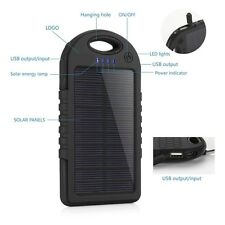 PowerBank 9000mAh Solar Dual USB Portable Charger for iPhone Android phone