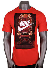 NIKE Lebron Futura Throne T-Shirt sz 2XL XX-Large Blue Red James Elite Lion NEW