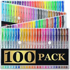 Artists Choice 100 Gel Pens with Case Extra Large Set