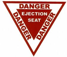 Stickers Autocollant Triangle Danger Ejection ( 10 cm)
