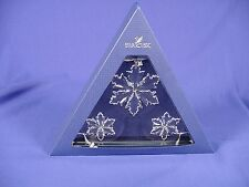 2014 Swarovski 3PC Annual Snowflake Ornament Set NIB!