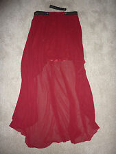 New NWT Crafted red skirt short at front, long at back. Size 12