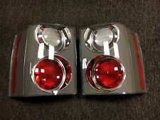 RANGE ROVER L322 VOGUE 2002-2009 CARBON CLEAR/RED REAR LIGHT PAIR LB-VG06-005