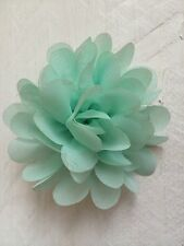 Mint Green Hair Clip Chiffon Flower Girl Bridesmaid Wedding Prom Races