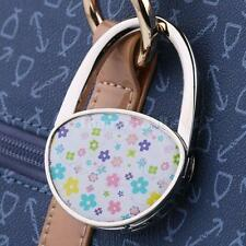 Oval Folding Handbag Purse Table Hook Hanger Support Holder Colorful Flower