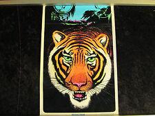 FLOCKED Vintage 1975~BENGAL TIGER~ BLACKLIGHT  Poster