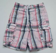 MEN ABERCROMBIE&FITCH SUMMER BEACH SHORTS SWIM MESH LINING PINK BLUE S SMALL EXC