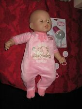 EUC Baby Annabell Doll Coo's Drinks Cries Real Tears Original Outfit New Bottle