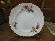 """Vintage Royal Sealy China Moss Rose w/Gold Trim - 6"""" Cake or Bread Plate"""