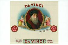 Leonardo da Vinci, Painter of Mona Lisa etc., Cigar Box Image -- Modern Postcard