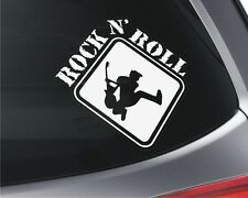 Rock N Roll x2 Car Window Vinyl Stickers Laptop Mirror Home Music