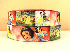 1 METRE SNOW WHITE + SEVEN DWARFS RIBBON SIZE 1 INCH BOWS HEADBANDS HAIR CAKE