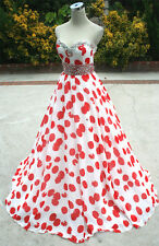 NWT PAPARAZZI by MORI LEE $398 Red / White Prom Gown 10