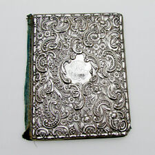 Antique Repousse Book Cover Sterling Silver 1890