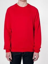 New~American Apparel California Fleece Raglan Pullover Sweater Red 5454 Large