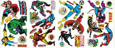 CLASSIC MARVEL SUPERHEROES wall stickers 32 decals Iron Man Hulk Capt America