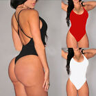 Sexy Women Sleeveless Swimwear Ladies Bodysuit Leotard Top Backless Jumpsuit New