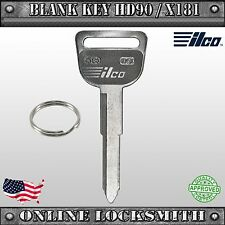 New Uncut Replacement Key For Honda & Acura Vehicles - HD90 / X181 / HD92