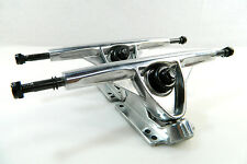 "Blank Pro 180mm Reverse Kingpin Longboard Trucks 10"" Axle Polished Silver"