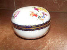 Great Meissen Porcelain Trinket Box, early 19th century,