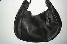 FURLA BLACK NOIR BROWN BRUN SILVER BAG SAC HANDBAG FEMME WOMEN LEATHER CUIR