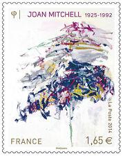 TIMBRE 4849 NEUF XX LUXE - PEINTURE DE JOAN MITCHEL DE 1992