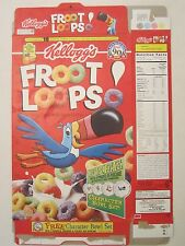 Kelloggs Cereal Box 1996 FROOT LOOPS 15 oz Character Bowl Offer