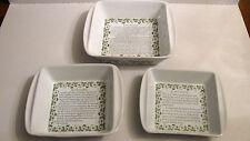 Paula Deen Set Of 3  Bakers Bakeware With Recipe's ,2qt. ,1.5qt. ,1qt. Cookware