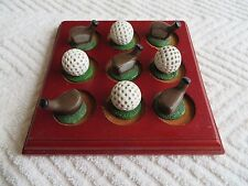 OFFICE DESK ACCESSORY  GOLF TIC TAC TOE GAME WITH WOODEN GAME BOARD