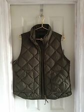 J.Crew Excursion Vest Down Coat Green Preowned Made Well Large L Fall Winter