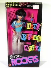 NIB BARBIE DOLL 1986 REAL DANCING ACTION AND THE ROCKERS DANA
