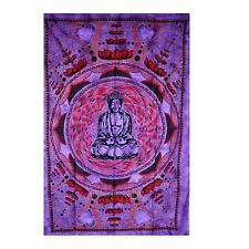 Lotus Buddha Tapestry Hippie Indian Meditation Indian Tapestry LG- 54 x 82 - OMA